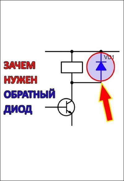 Обратный диод в электрических схемах